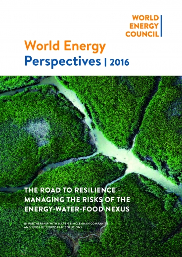 The road to resilience - managing the risks of the energy-water-food nexus