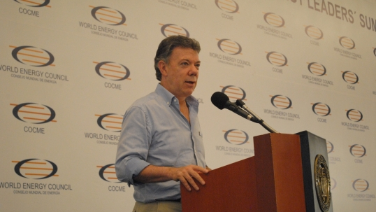 Speech by President Juan Manuel Santos of Colombia at the World Energy Leaders' Summit