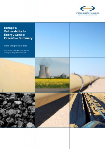 Europe's vulnerability to Energy Crisis