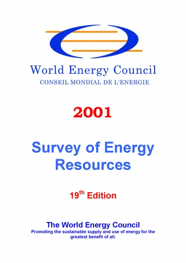 World Energy Resources 2001