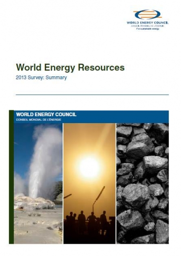 World Energy Resources: 2013 Survey
