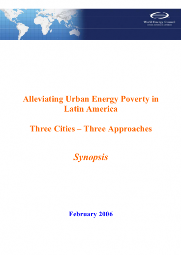 Alleviating Urban Energy Poverty in Latin America